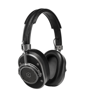 MH40 Over-Ear Headphones Black Leather
