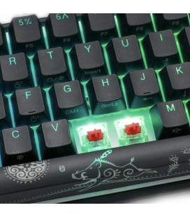 MECHANICAL KEYBOARD DUCKY ONE 2 MINI MECHA V2 RGB, CHERRY MX SILENT RED