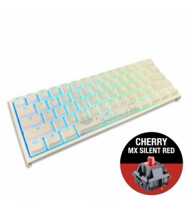 MECHANICAL KEYBOARD DUCKY ONE 2 MINI V2 WHITE RGB, CHERRY MX SILENT RED