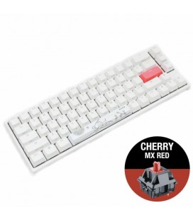DUCKY ONE 2 SF WHITE RGB, CHERRY MX RED