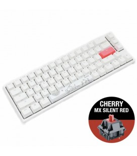 DUCKY ONE 2 SF WHITE RGB CHERRY MX SILENT RED