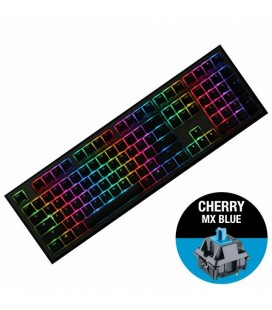 MECHANICAL KEYBOARD DUCKY SHINE 7 GUNMETAL GRAY RGB, CHERRY MX BLUE