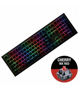 MECHANICAL KEYBOARD DUCKY SHINE 7 GUNMETAL GRAY RGB, CHERRY MX RED
