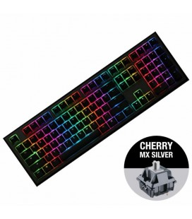 MECHANICAL KEYBOARD DUCKY SHINE 7 GUNMETAL GRAY RGB, CHERRY MX SILVER