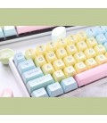 MECHANICAL KEYBOARD CAPS DUCKY COTTON CANDY 108-KEYCAP SET ABS DOUBLE-SHOT US LAYOUT