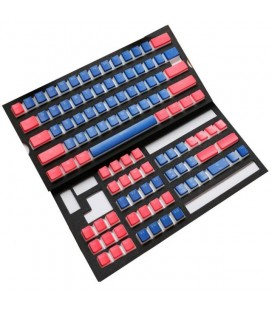 MECHANICAL KEYBOARD CAPS DUCKY PUDDING BLUE & RED 108-KEYCAP SET PBT DOUBLE-SHOT US LAYOUT