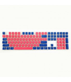 MECHANICAL KEYBOARD CAPS DUCKY PUDDING RED & BLUE 108-KEYCAP SET PBT DOUBLE-SHOT US LAYOUT