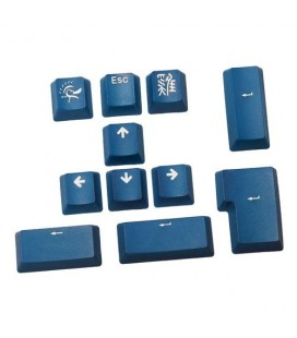 Ducky 11-Key PBT Doubleshot Color Keycap Set - Sea Blue