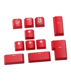 Ducky 11-Key PBT Doubleshot Color Keycap Set - Carmine Red