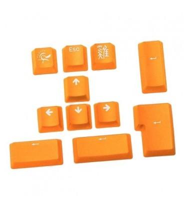 Ducky 11-Key PBT Doubleshot Color Keycap Set - Lemon Yellow