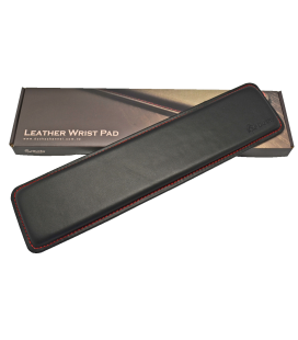 Ducky TKL Leather Wrist Rest with Red Stitching