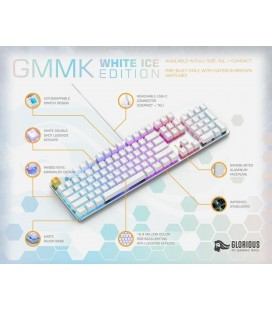 Glorious GMMK Full Size White Ice Edition - Gateron Brown, US Layout