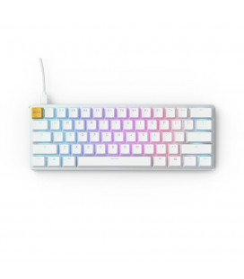 Glorious GMMK Compact White Ice Edition - Gateron Brown, US Layout