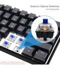 HK Gaming - GK61   US Layout - ( Black , Gateron Black )