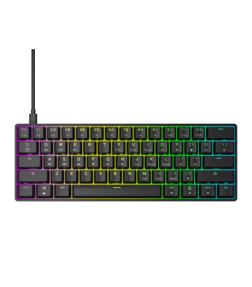 HK Gaming - GK61 | US Layout - ( Black , Gateron Optical Red)
