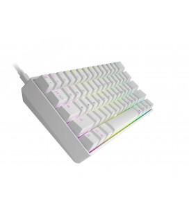 HK Gaming - GK61   US Layout - ( White , Gateron Optical Red)